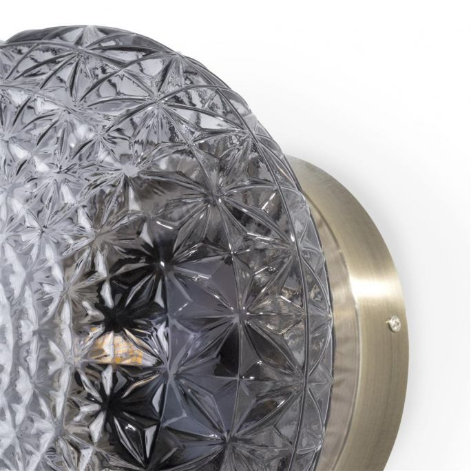 Erez wandlamp 1*g9 Coco Maison  Antraciet