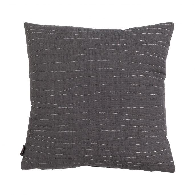 Kussen Uneven stitching dark grey