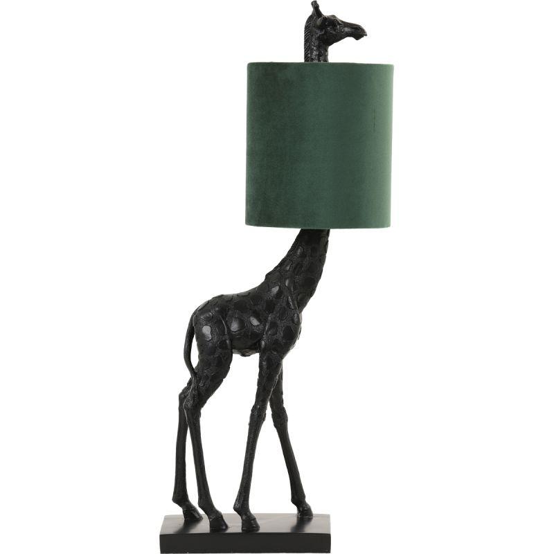 Tafellamp Giraffe zwart/groen