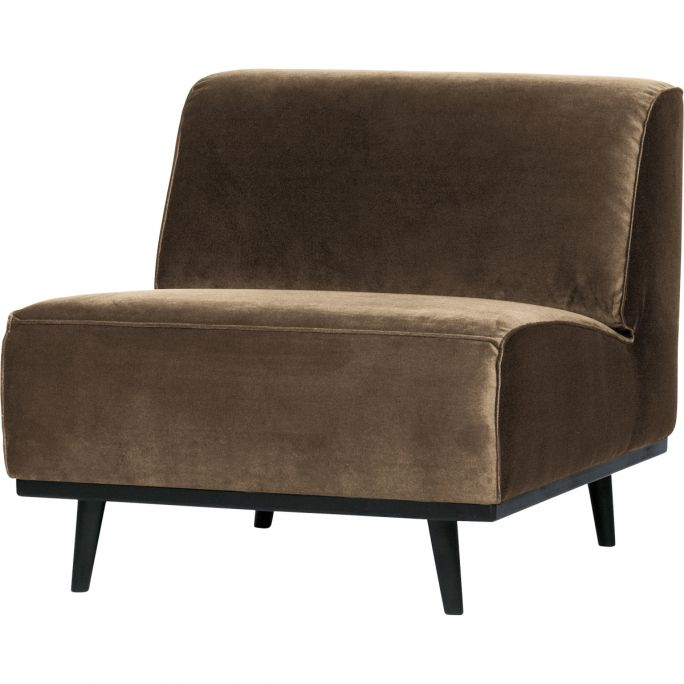 Statement Fauteuil Fluweel Taupe