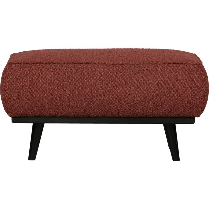 Statement Hocker Boucle Chestnut 80x55cm