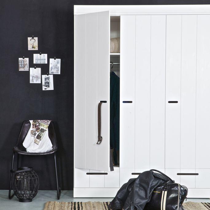 Kast Connect 3 deurs met lade wit