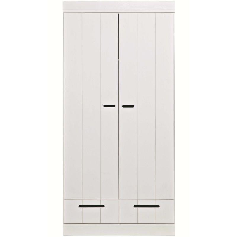 Image of Kast Connect 2 deurs met lade wit