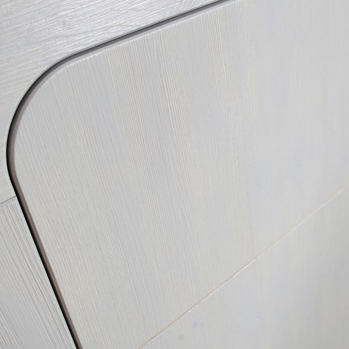 Kast Sammie 2-deurs grenen warm grijs