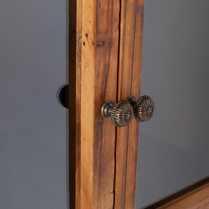 Vitrinekast Box metaal met houten deuren
