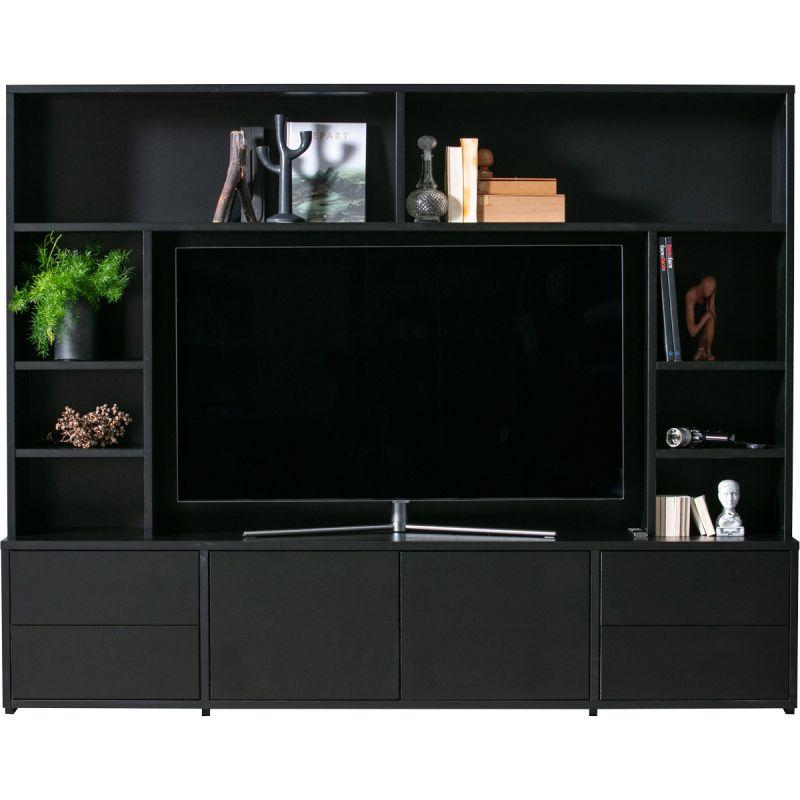 TV Wandmeubel Maxel zwart grenen