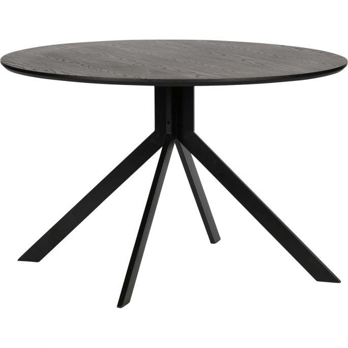 Eettafel Bruno mdf zwart D120 cm