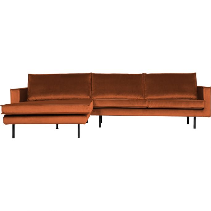 Chaise longue Rodeo links velvet roest