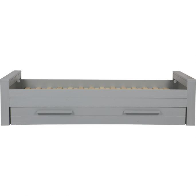 Bed Dennis 90x200 cm grenen betongrijs geborsteld