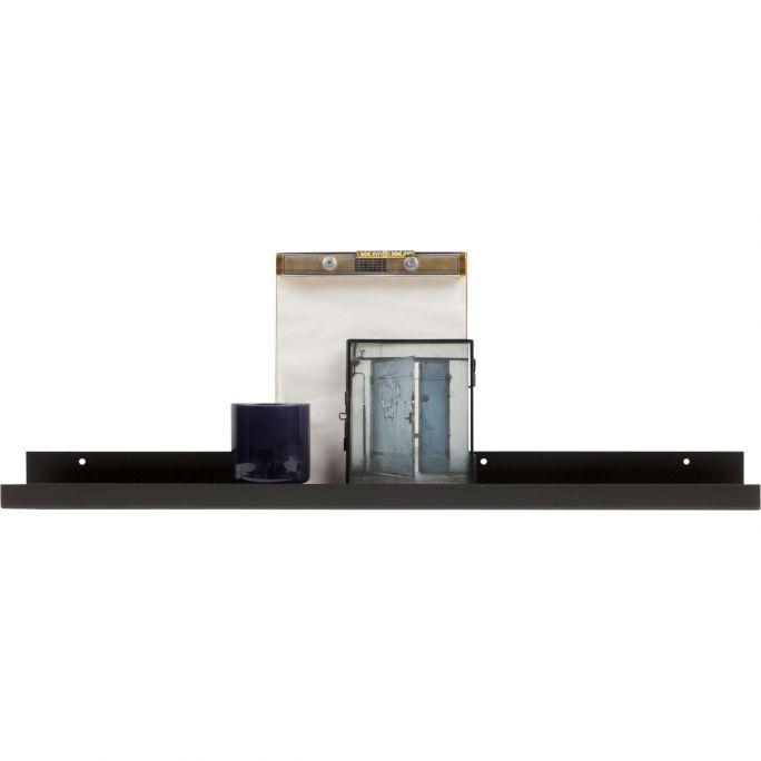 Fotolijstplank Ravi metaal zwart 80 cm