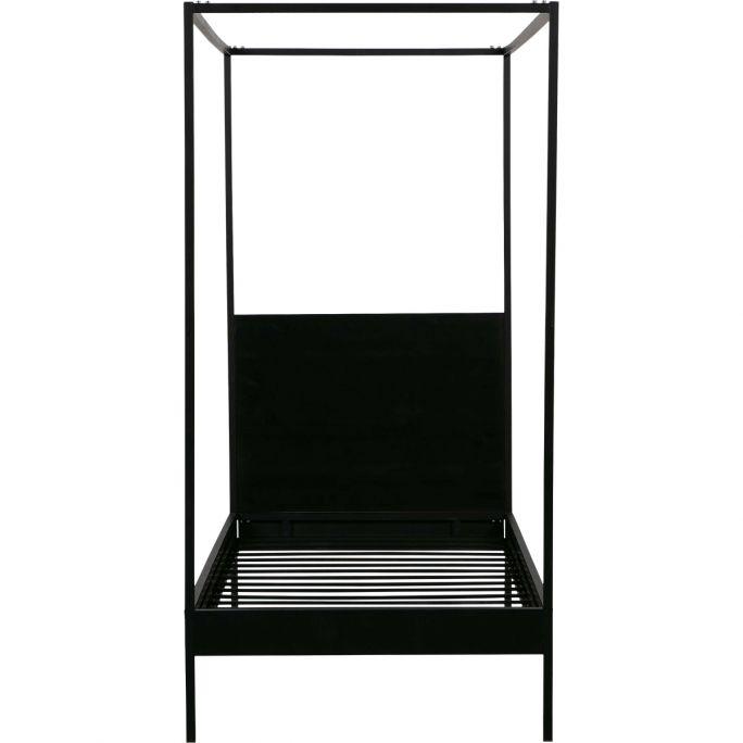 Hemelbed Baron 90x200 cm metaal zwart