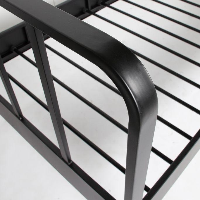 Bed Mees 90x200 cm metaal zwart