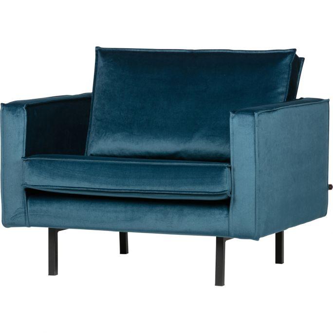 Fauteuil Rodeo velvet blauw