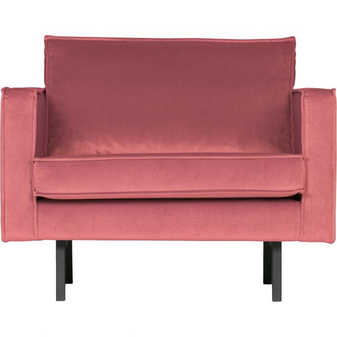Fauteuil Rodeo velvet roze