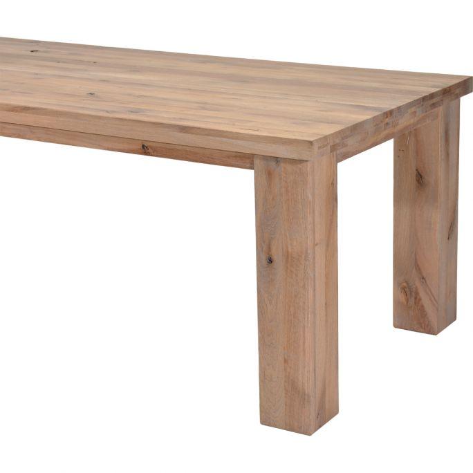 Eettafel Biarritz vierkante poot hout