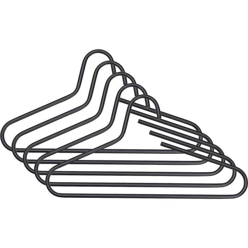 Kleerhangers Trish (5-delige set) zwart, PureDay