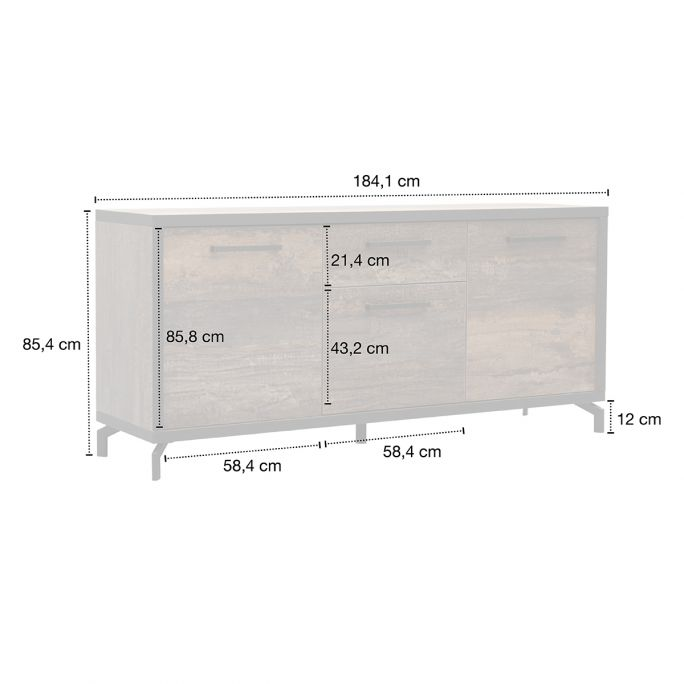 Dressoir Kriss 184cm breed