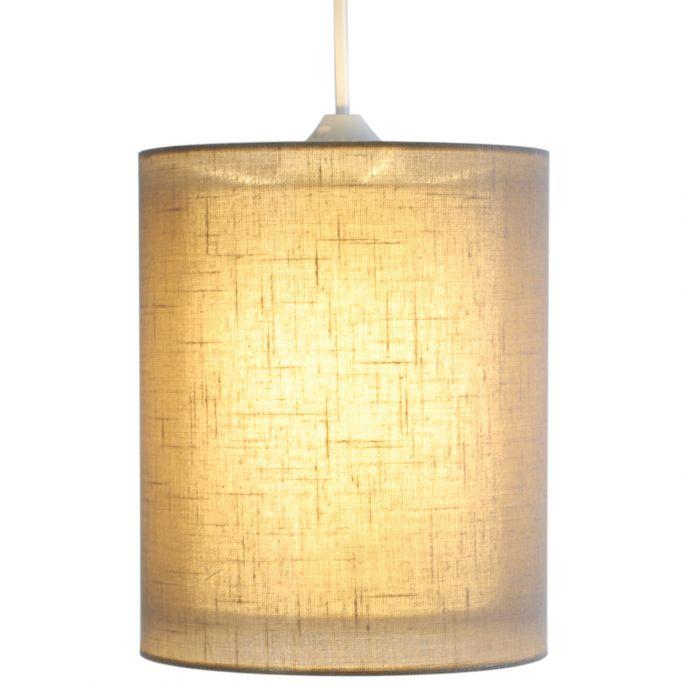 Lampenkap Noa Linnen 18x22cm taupe