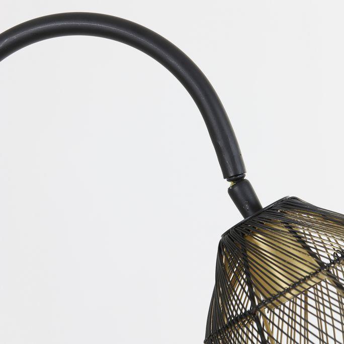 Vloerlamp Madita zwart goud