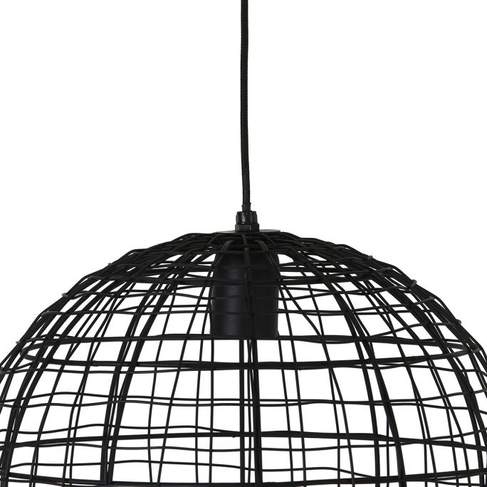 Hanglamp Mik 35cm doorsnee mat zwart