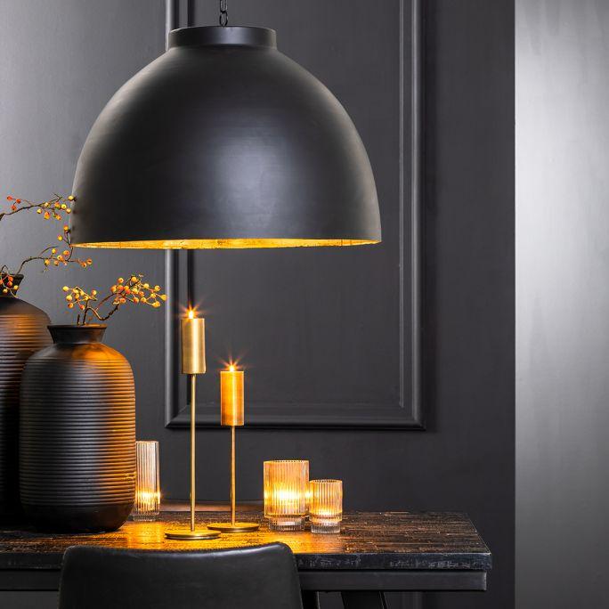 Hanglamp Kylie 60x42cm zwart goud