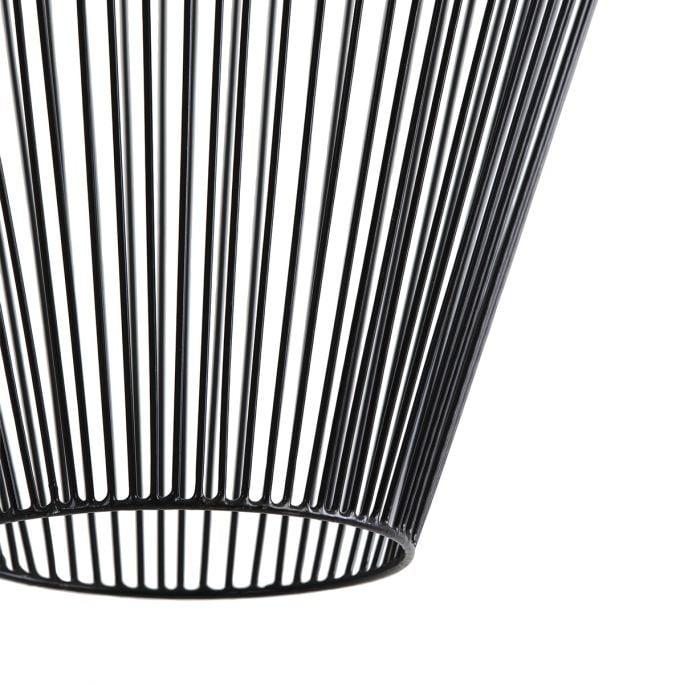 Hanglamp Amber 19x26cm zwart