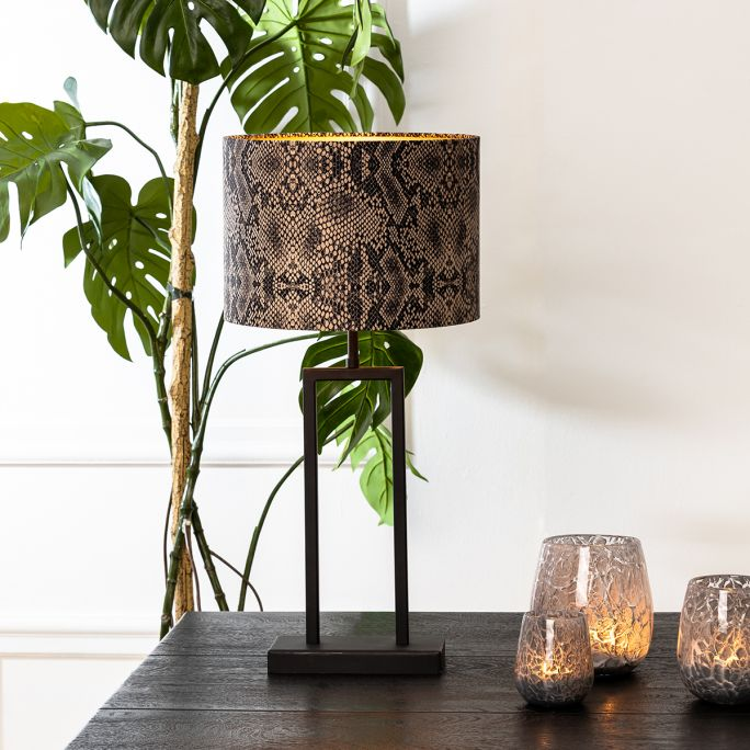 Lampvoet Shiva 20x10x41cm mat zwart
