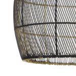 Hanglamp Madita zwart goud