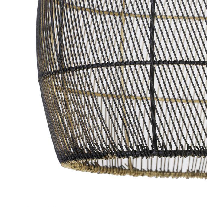 Hanglamp Madita 30x37cm zwart goud