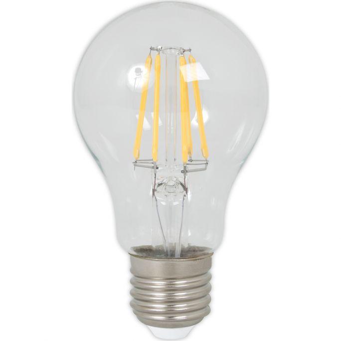 Calex LED Full Glass Filament GLS-lamp 240V 5,5W 600lm E27 A60, Clear 2700K CRI80, energy label A++