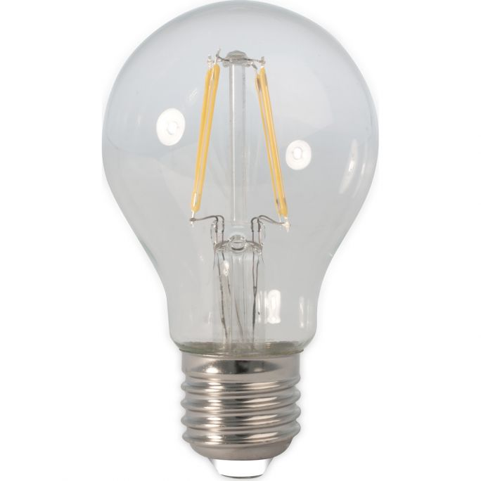 Calex LED Full Glass Filament GLS-lamp 240V 4W 390lm E27 A60, Clear 2700K CRI80 Dimmable, energy label A++