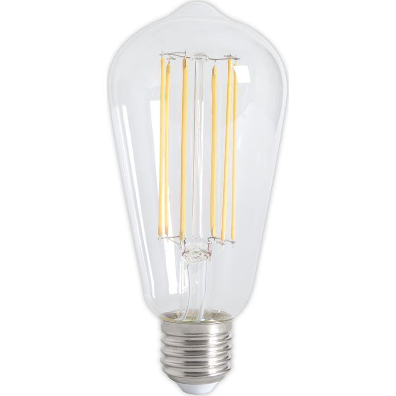 Calex LED Full Glass LongFilament Rustik Lamp 240V 4W 350lm E27 ST64, Clear 2300K Dimmable, energy l