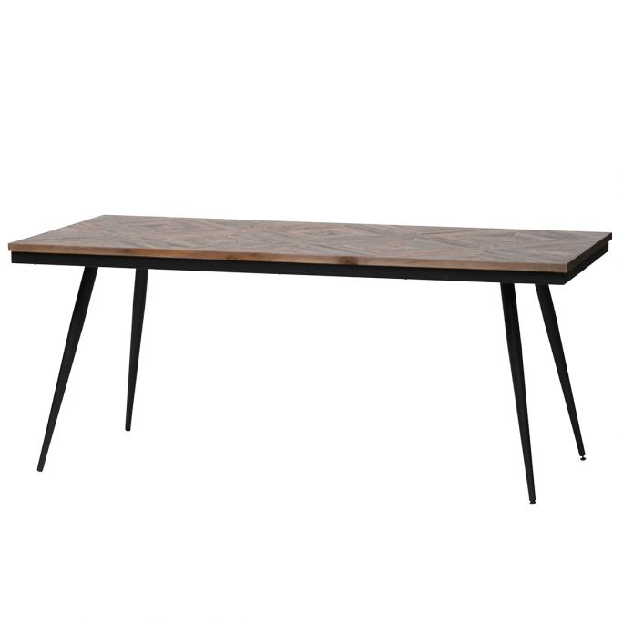 Rhombic eettafel 180x90cm hout/metaal