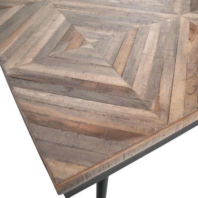 Rhombic eettafel 220x90cm hout/metaal