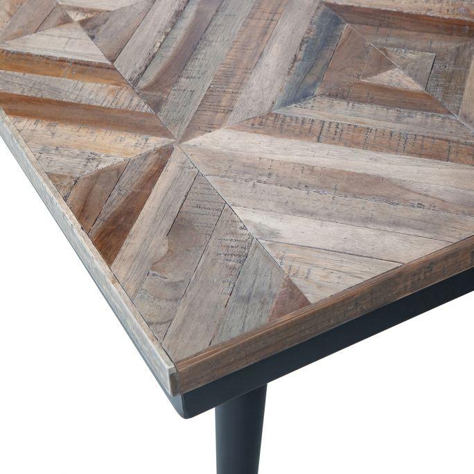 Rhombic Salontafel 120x60cm hout/metaal
