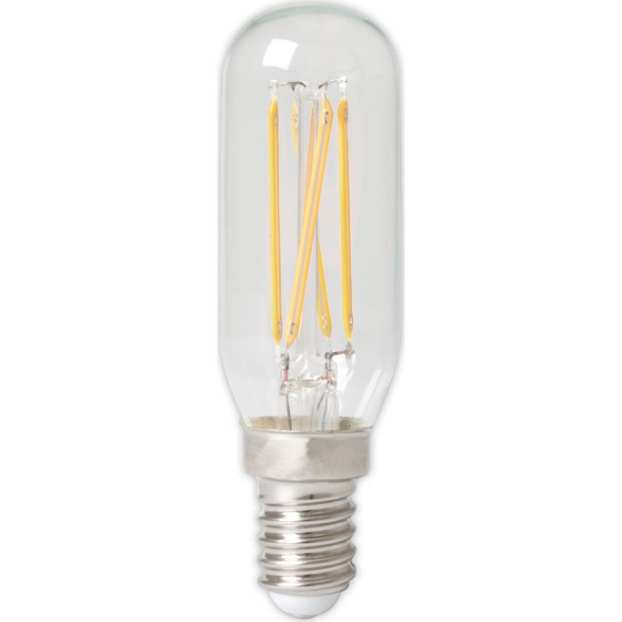 Calex LED Full Glass Filament Tubelar-Type Lamp 240V 3,5W E14 T25x85, 310lm, Clear 2700K Dimmable, energy label A+