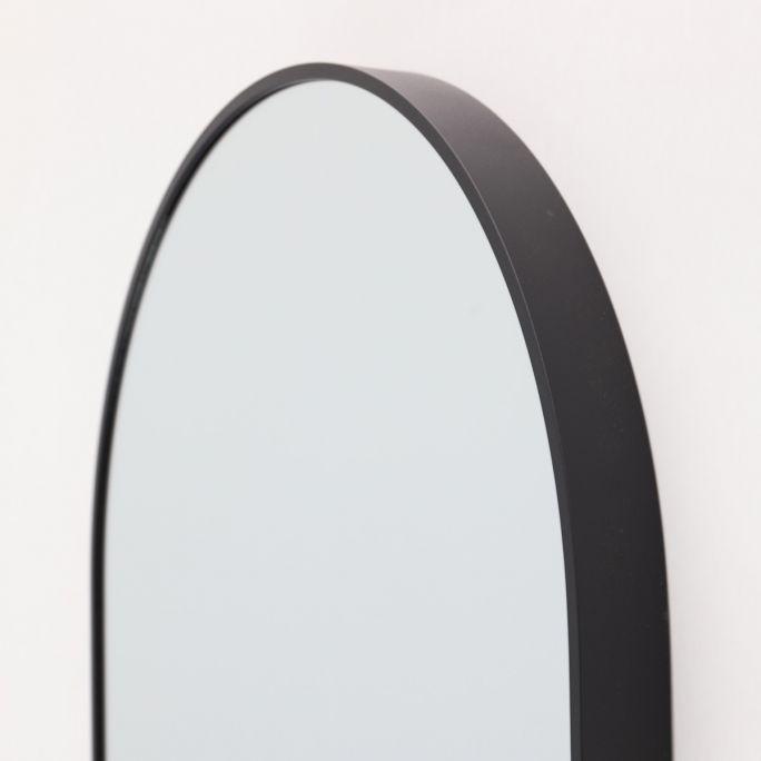Spiegel Floriana zwart 100cm hoog