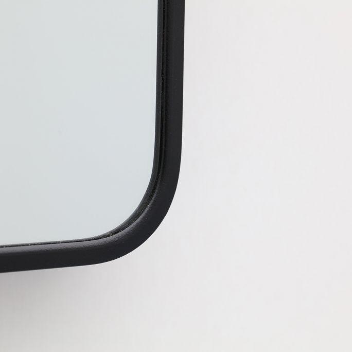 Spiegel Frederica zwart 80x80cm