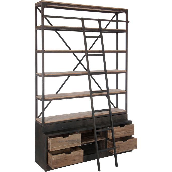 Kast Bieb met ladder