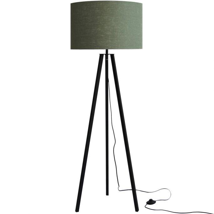 Vloerlamp Lino groen/zwart