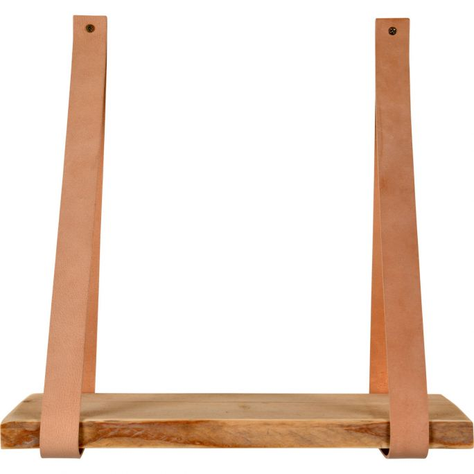 Leren plankdragers Yay inclusief plank beige