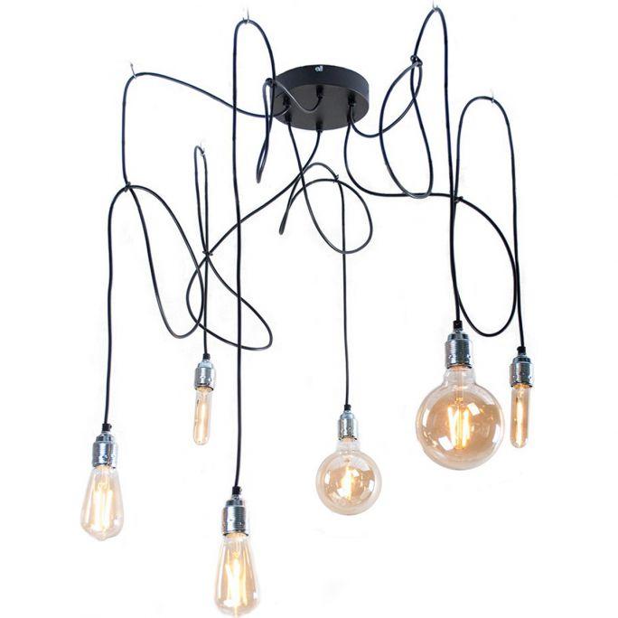 Hanglamp Maik 6 lichtpunten