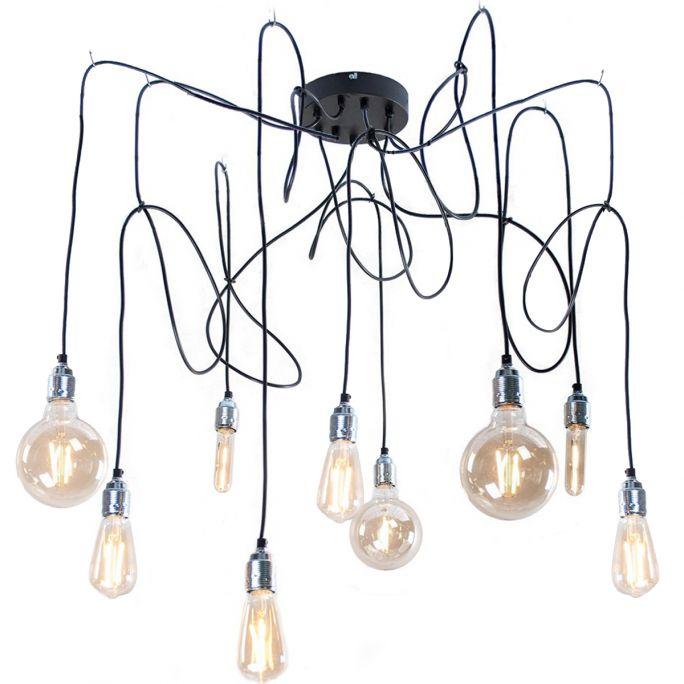 Hanglamp Maik 9 lichtpunten