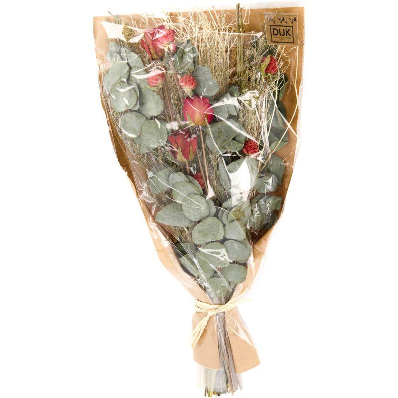 Boeket droogbloemen rood