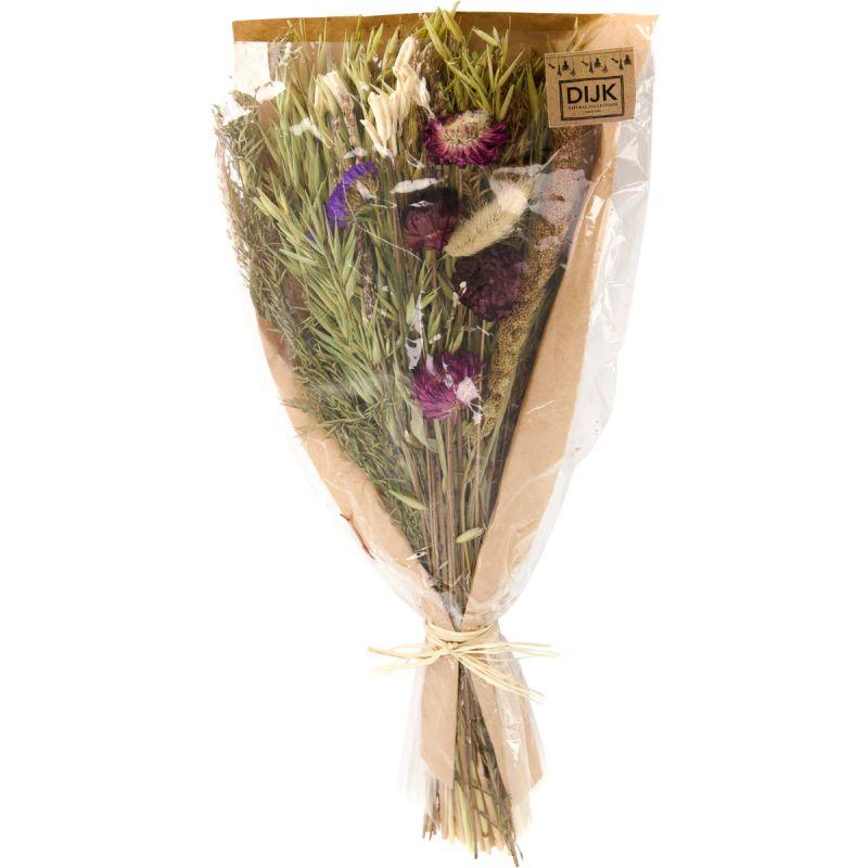 Boeket droogbloemen paars