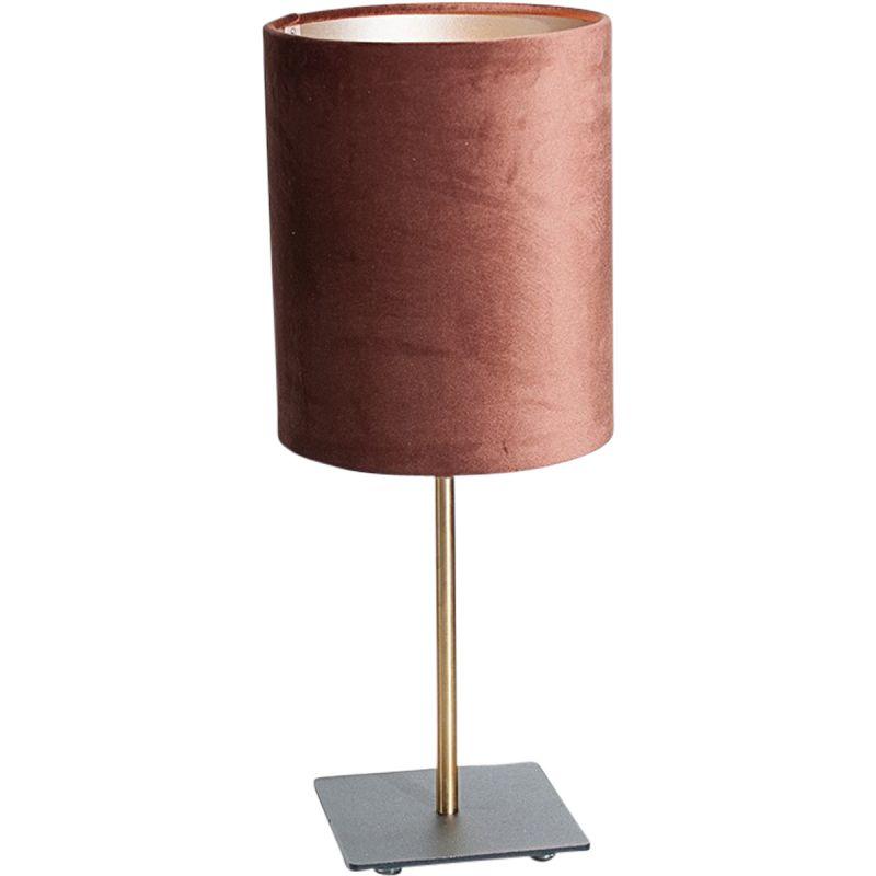 Tafellamp Sky incl. kap �18/h22 velvet Chocolate Brown