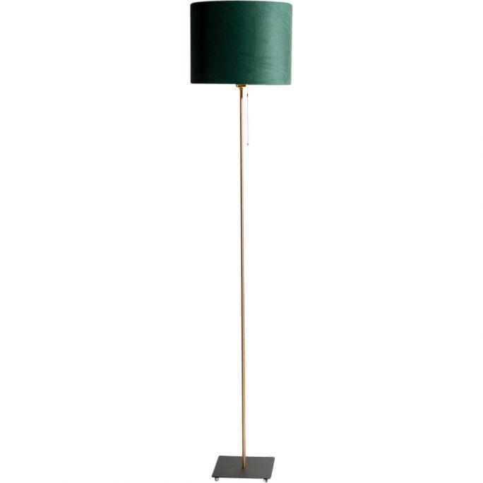 Vloerlamp Sky incl. kap Ø32/h25 velvet Deep Forest Green