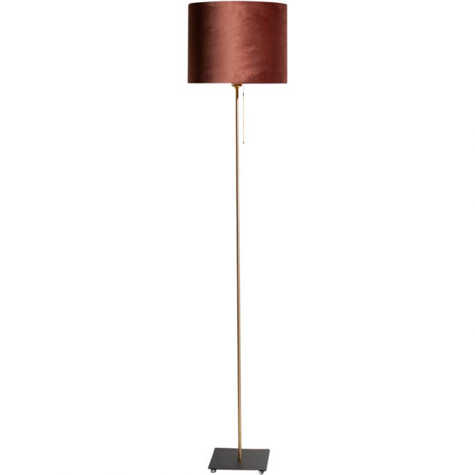 Vloerlamp Sky incl. kap Ø32/h25 velvet Chocolate Brown