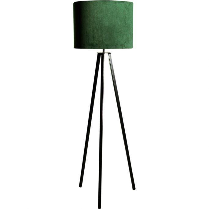 Vloerlamp Lino incl. kap Ø40/h30 velvet Deep Forest Green