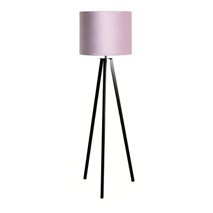 Vloerlamp Lino incl. kap Ø40/h30 velvet Castle Rose Pink